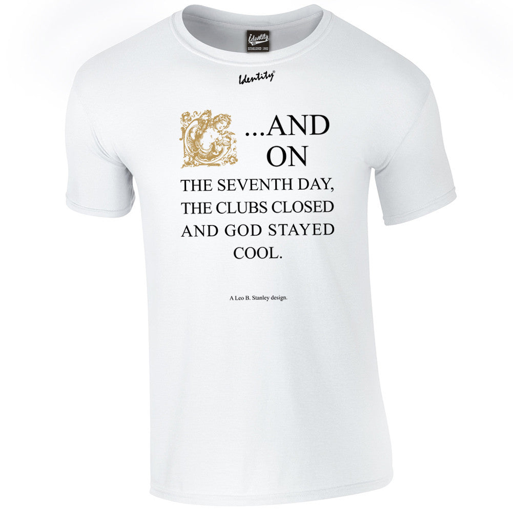 Classic Identity 'Seventh Day Gold' T-Shirt - Front Print Only