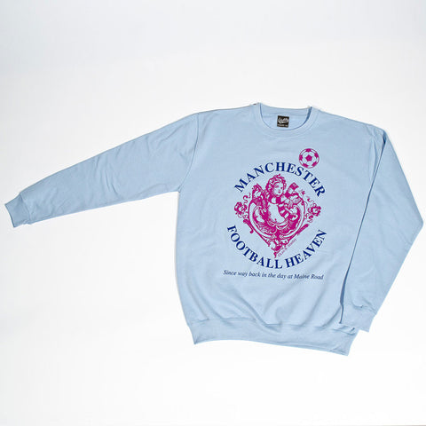Identity Sixth Day Football Heaven Manchester City Fan Crew Sweat