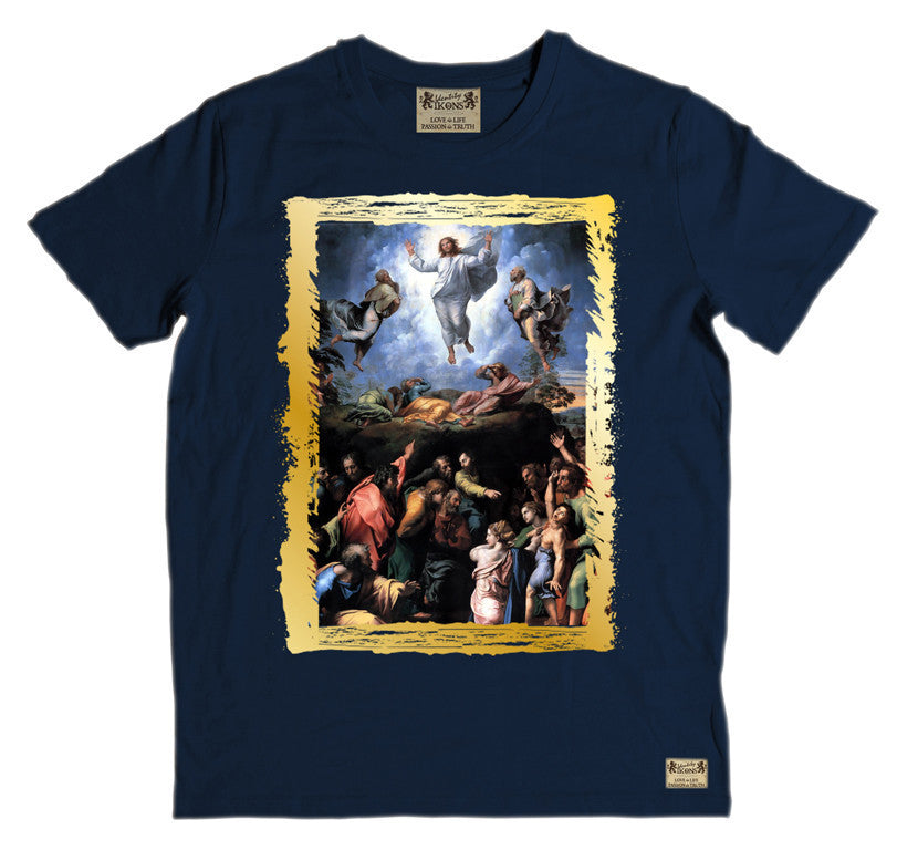 Ikons 'The Transfiguration' Navy T-Shirt
