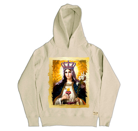 Ikons 'Our Lady' Vintage White Hooded Sweatshirt from our Ikons range of restored old masters as worn by Ian Brown of the Stone Roses