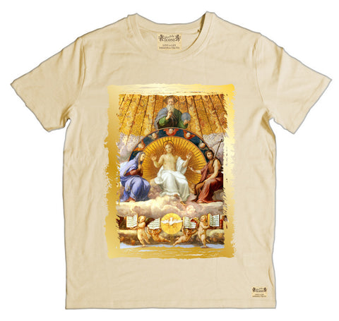 Ikons 'Christ Glorified' Vintage White T-Shirt from our Ikons range of restored old masters as worn by Ian Brown of the Stone Roses
