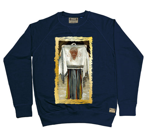 Ikons 'The Holy Face' Navy Sweatshirt from our Ikons range of restored old masters as worn by Ian Brown of the Stone Roses