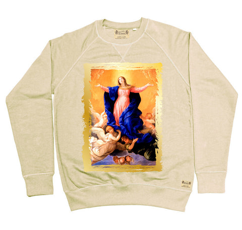 Ikons 'The Assumption of the Virgin' Vintage White Sweatshirt from our Ikons range of restored old masters as worn by Ian Brown of the Stone Roses