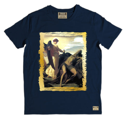 Ikons 'Elijah in Wilderness' Navy T-Shirt from our Ikons range of restored old masters as worn by Ian Brown of the Stone Roses