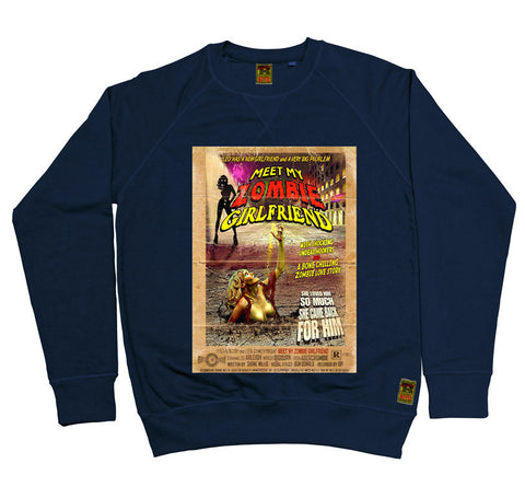 B-Movie 'Meet My Zombie Girlfriend' Navy Sweatshirt