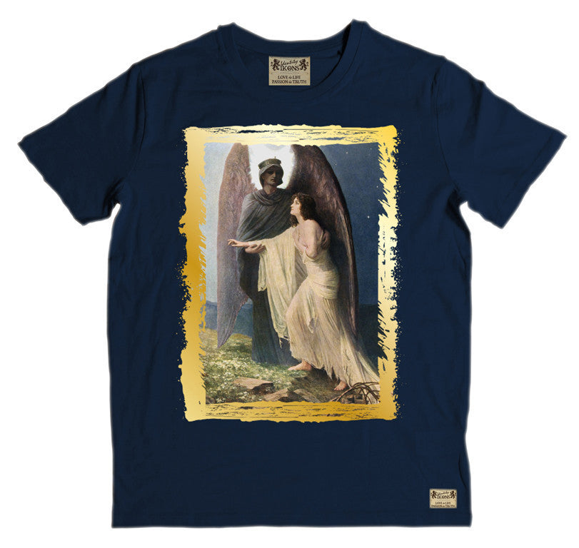 Ikons 'The Great Awakening' Navy T-Shirt