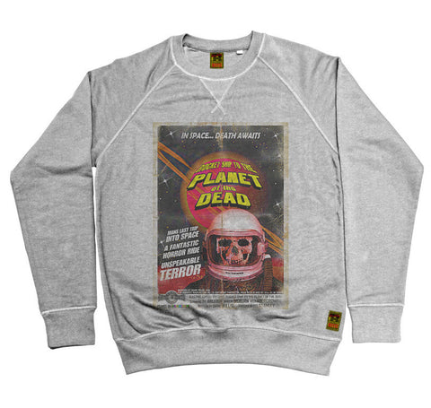 B-Movie 'Planet Of The Dead' Heather Grey Sweatshirt