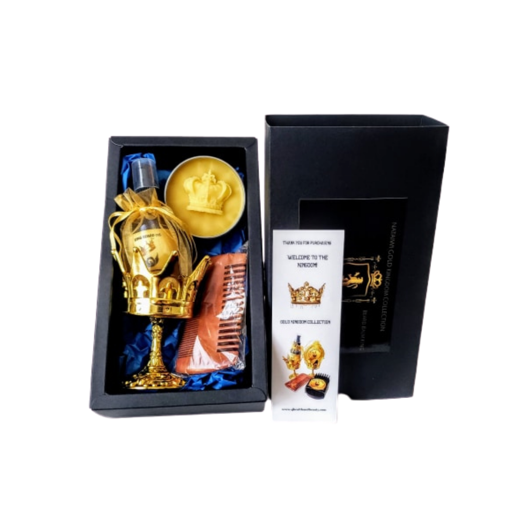 4PC Gold Kingdom Collection Beard Gift Set