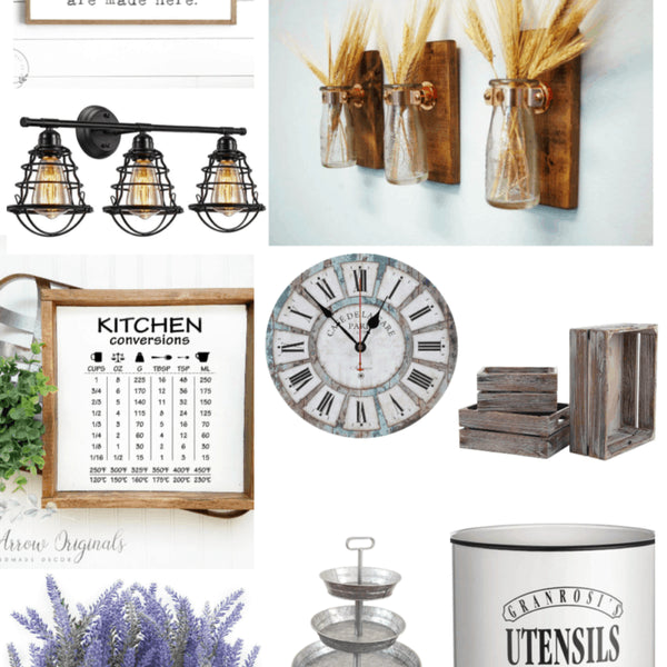 Farmhouse kitchen decor has a certain look and feel and I absolutely love it