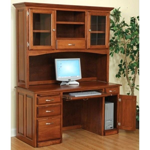desk with hutch and drawers computer desk hutch with doors co co real wood computer corner desk drawers hutch.