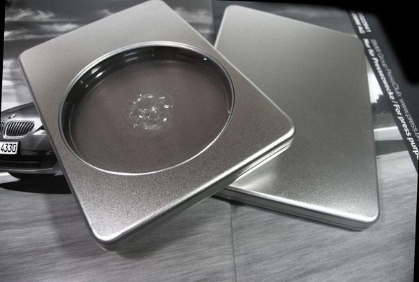 190*130*16mm silver rectangle  storage tin box for CD or DVD disk