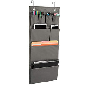 Over The Door Hanging Office Organizer - Storage for Notepads, Paper, File Folders, Office and School Supplies