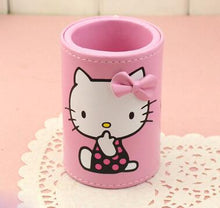 Load image into Gallery viewer, (5 Pcs/Lot) Pu Leather Bow Hello Kitty Home School Travel Table Desk Sundries Organizer Goolds Holder Small Size 9X6CM 3 Colors