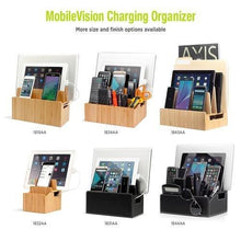 Load image into Gallery viewer, Featured mobilevision charging station executive stand w extension dock desktop organizer for smartphones tablets includes usb port charger
