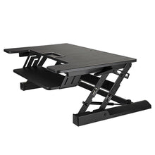 Load image into Gallery viewer, New smart art height adjustable sit to stand computer desk standing desk riser workstation standing table converter with 36 in x 22 in tabletop black