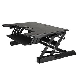 New smart art height adjustable sit to stand computer desk standing desk riser workstation standing table converter with 36 in x 22 in tabletop black
