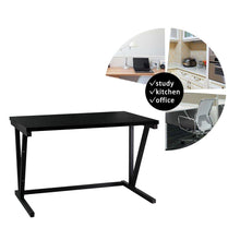 Load image into Gallery viewer, Top rated raumeyun 2 tier microwave stand wooden storage rack kitchen wooden shelving microwave oven bakers rack with spice rack organizer a shelf for printers on desk black