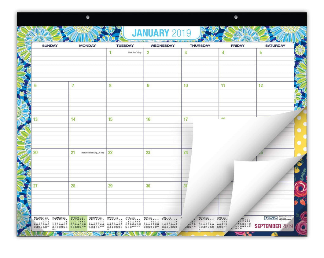 Shop for desk calendar 2019 large monthly pages 22x17 runs from now through december 2019 desk wall calendar can be used throughout 2019