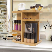 Load image into Gallery viewer, Buy sorbus 360 bamboo cosmetic organizer multi function storage carousel for makeup toiletries and more for vanity desk bathroom bedroom closet kitchen
