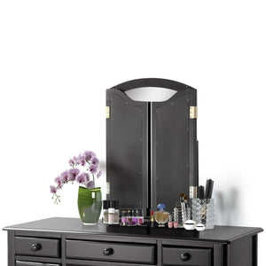 Explore harper bright designs vanity set with 5 drawers make up vanity table make up dressing table desk vanity with mirror and cushioned stool for women girls black
