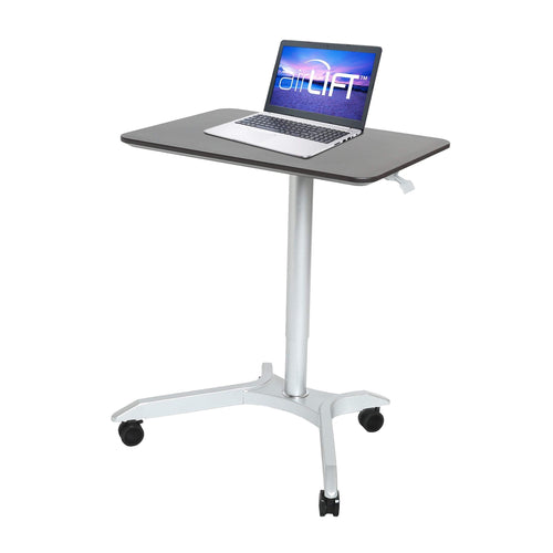 Related seville classics airlift xl 28 pneumatic height adjustable sit stand mobile laptop computer desk cart 27 1 to 41 9 h espresso
