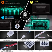 Load image into Gallery viewer, Shop mingopro led strip lights 32 8ft 10m 300 leds smd5050 rgb strip lights ip65 waterproof flexible strip lighting for home kitchen tv desk table dining room bed room