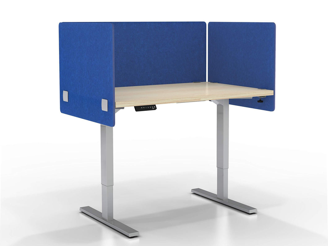 Kitchen varoom acoustic partition sound absorbing desk divider kit 1 60 w x 24h back panel 2 30w x 24h side panels privacy desk mounted cubicle panels cobalt blue