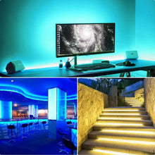 Load image into Gallery viewer, Selection mingopro led strip lights 32 8ft 10m 300 leds smd5050 rgb strip lights ip65 waterproof flexible strip lighting for home kitchen tv desk table dining room bed room