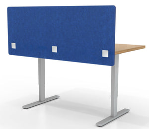 On amazon varoom acoustic partition sound absorbing desk divider kit 1 60 w x 24h back panel 2 30w x 24h side panels privacy desk mounted cubicle panels cobalt blue