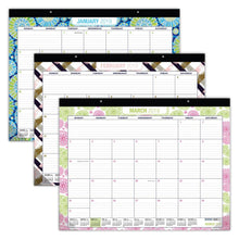 Load image into Gallery viewer, Storage organizer desk calendar 2019 large monthly pages 22x17 runs from now through december 2019 desk wall calendar can be used throughout 2019