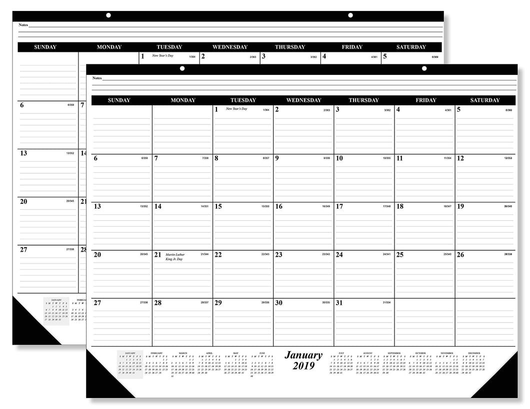 Select nice 10 pack of the 1 2019 desk pad calendar 12 months january december 2019 holidays julian days great durable quality beautiful ruled for your memos 17 x 22 inches