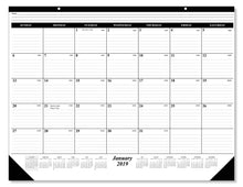 Load image into Gallery viewer, Selection 10 pack of the 1 2019 desk pad calendar 12 months january december 2019 holidays julian days great durable quality beautiful ruled for your memos 17 x 22 inches