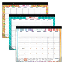 Load image into Gallery viewer, Storage desk calendar 2019 large monthly pages 22x17 runs from now through december 2019 desk wall calendar can be used throughout 2019