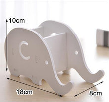 Load image into Gallery viewer, Creative 1pc pen holder Cute kawaii elephant Animal table holder mobile phone stand storage box Stationery office organizer gift