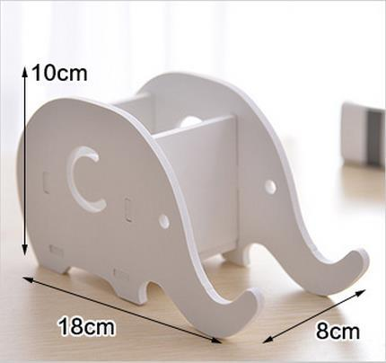 Creative 1pc pen holder Cute kawaii elephant Animal table holder mobile phone stand storage box Stationery office organizer gift
