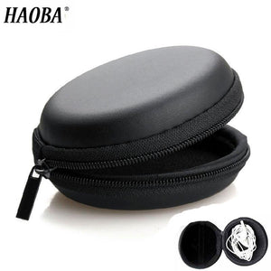 HAOBA Earphone Holder Case Storage Carrying Hard Bag Box Case For Earphone Headphone Accessories