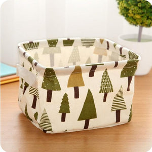 Foldable Closet Fabric Desktop Storage Baskets