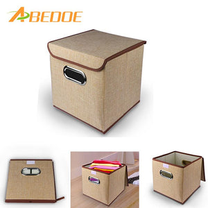 ABEDOE Brand Fabric Folding clothes storage box for Socks Underwear Ties Bra Cosmetics kid toys Storage Box Clothing bin 2colors