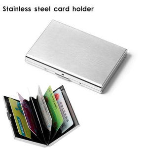 RFID Blocking Wallet Slim Secure Stainless Steel Contactless Card Protector for 6 Credit Cards 2018ing