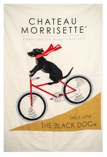 Chateau Morrisette - The Dog On A Bicycle Flour Sack Towel