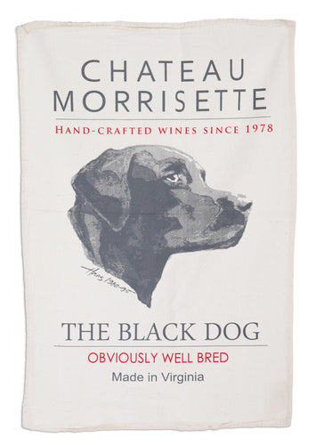 Chateau Morrisette - The Original Black Dog Flour Sack Towel