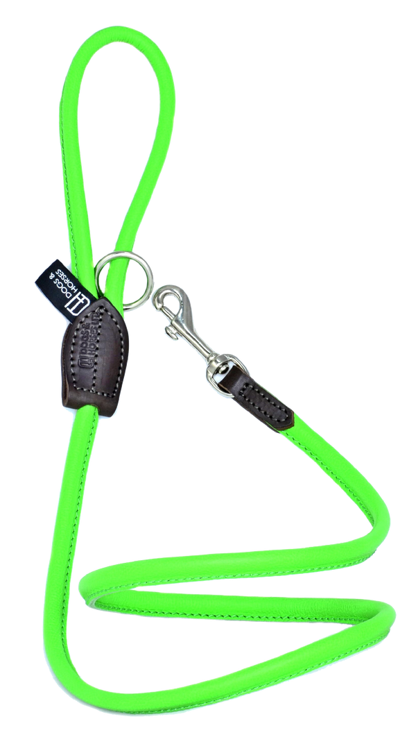 D&H Green Rolled Leather Lead