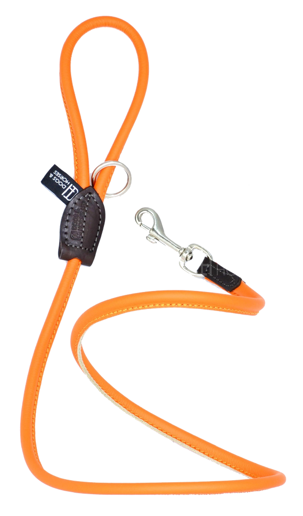 D&H Orange Rolled Leather Lead