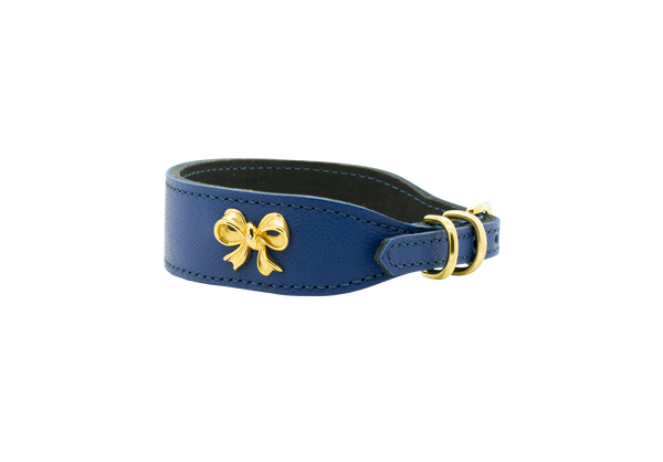 D&H Gold Ribbon Dog Collar