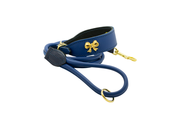 D&H Cerulean Ribbon Leather Set