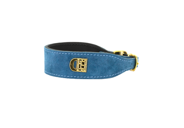 D&H Emerald Suede Dog Collar
