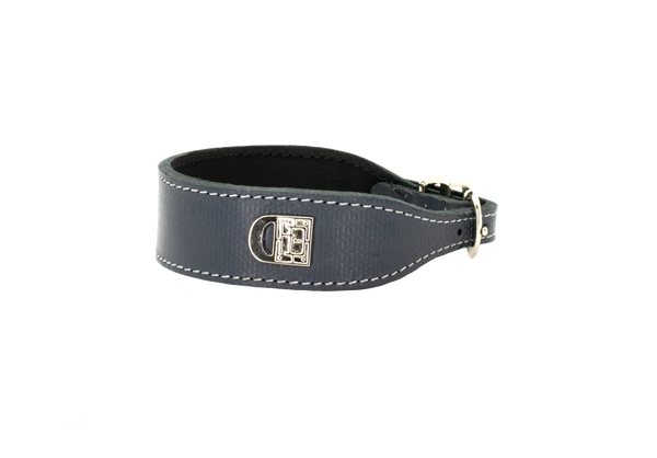 D&H Grey Textured Dog Collar
