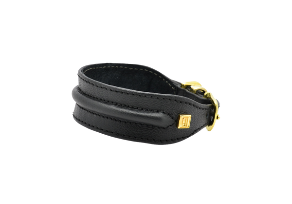 D&H Black Horizon Hound Collar with Golden Buckle