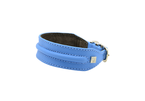 D&H Blue Horizon Hound Collar with Golden Buckle