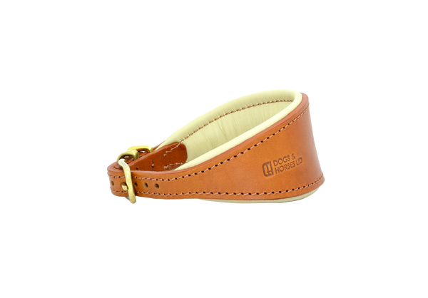D&H Tan with Brass Hound Collar